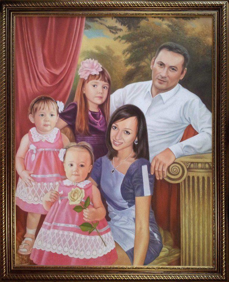 Семейный портрет маслом в Набережных Челнах — правильная традиция…
