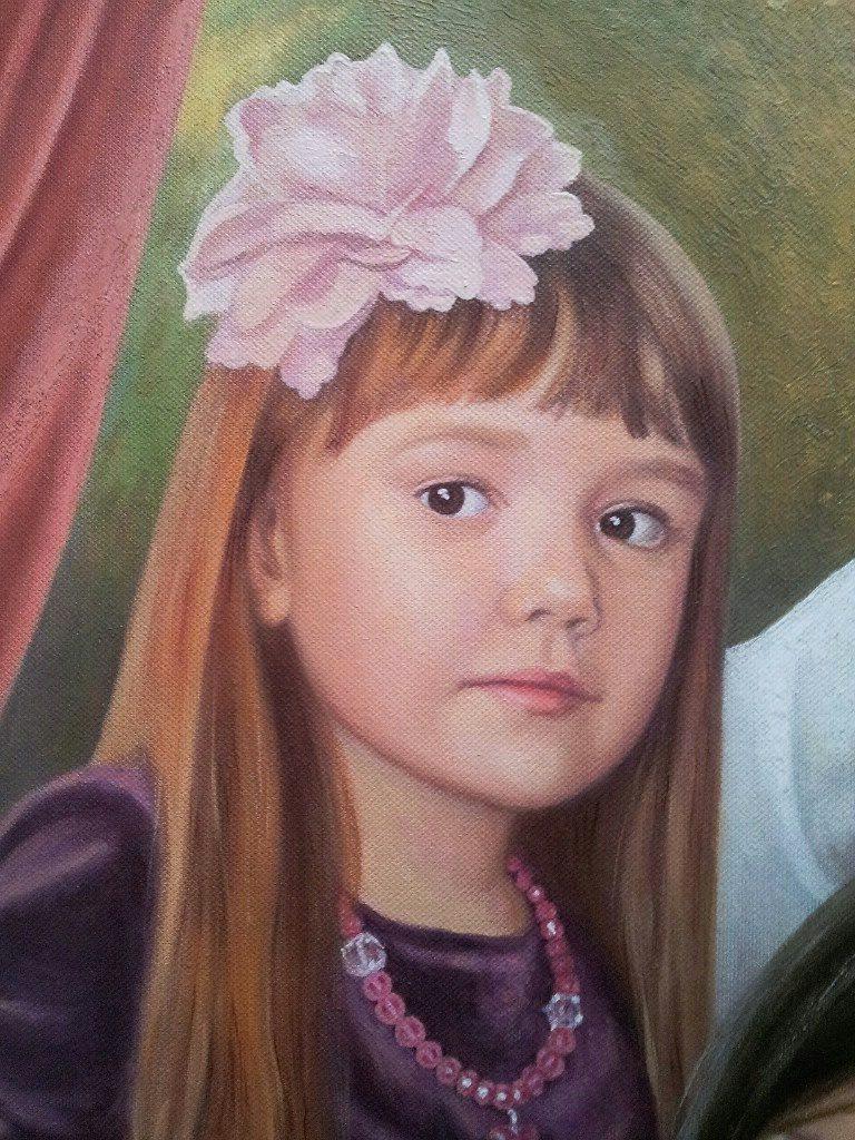 Семейный портрет на холсте Набережные челны