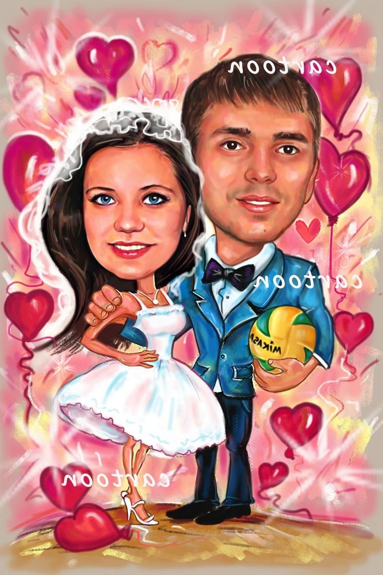 Свадебный шарж с оригинальным сюжетом в Набережных Челнах!