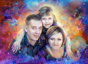 Заказать семейный портрет по фото