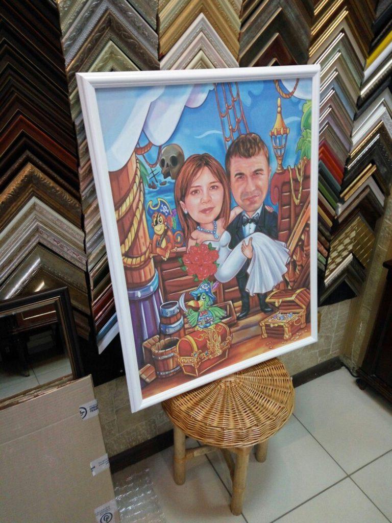портрет шарж на заказ в Набережных Челнах