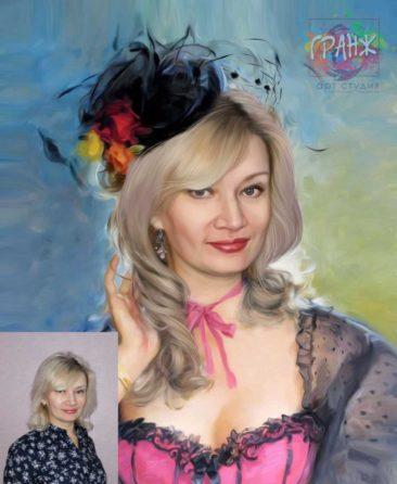 Заказать арт портрет по фото на холсте в Набережных Челнах