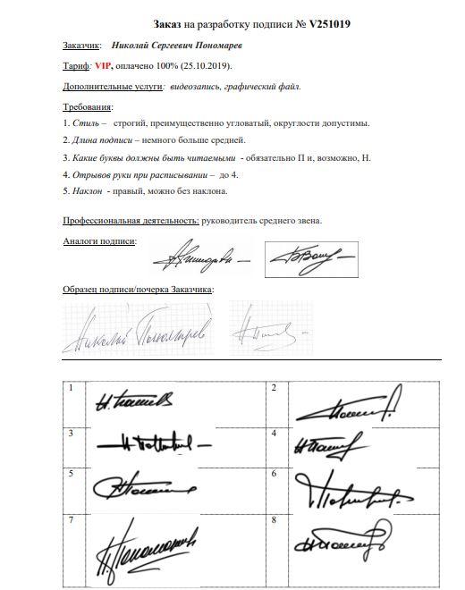 Разработка личной подписи онлайн Набережные Челны