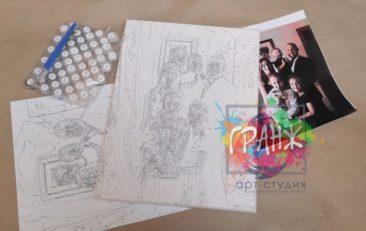 Картина по номерам по фото, портреты на холсте и дереве в Набережных Челнах